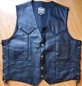 New Genuine Leather biker vest